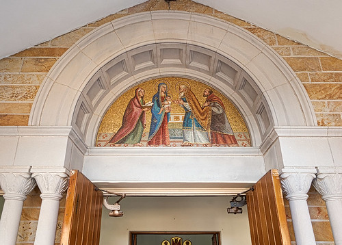 Saint Mary Roman Catholic Church, in Trenton, Illinois, USA - mosaic of the Presentation