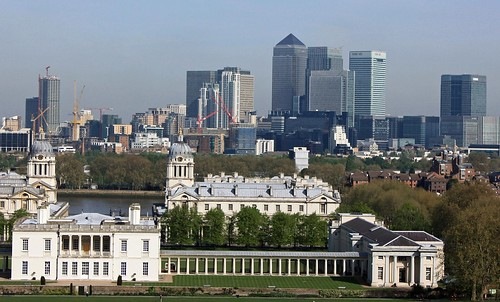 Panorama from the Royal Observatory: old and new