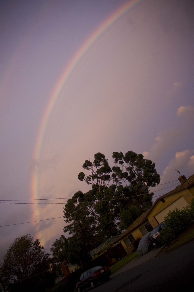 the rainbow over our home