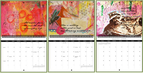 Some of the Calendar 2010 pages (Copyright Hanna Andersson)