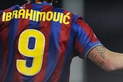 Ibrahimovic con la maglia del Barcellona