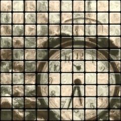 379 - Tile Clock - Texture