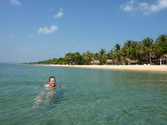 Lizzy swims off Phu Quoc's Long Beach