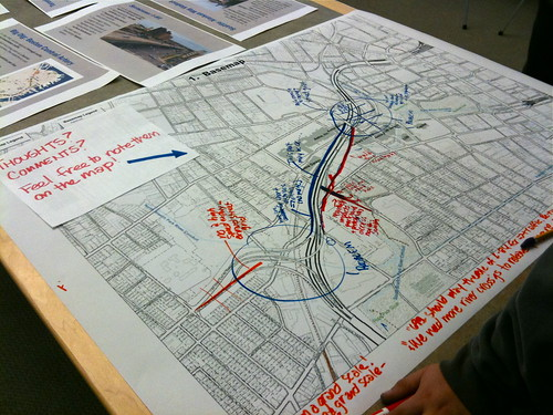 Doodling on a map of I-84 through Hartford. Photo © H Brandon