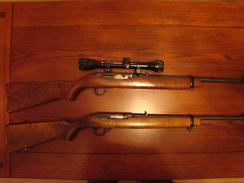 44 magnum rifle ruger. The top rifle is the Model 44