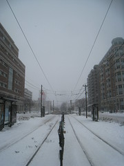 Vanishing (historygradguy (jobhunting)) Tags: winter snow boston point ma publictransportation massachusetts tracks newengland winner rails mbta masstransit mass vanishing commave bostonist commonwealthavenue blanfordstreet herowinner