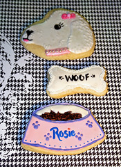 Bake Your Baby (alicakescupcakery) Tags: pink dog white woof cookies puppy bowl bone foodbowl alicakes alicakescupcakery