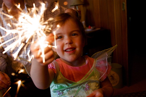 Christmas sparklers and fairies