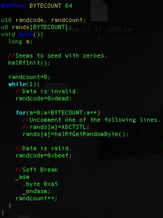 Travis Goodspeed's Blog: PRNG Vulnerability of Z-Stack