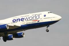 British Airways B747 G-CIVP One World (SpixPix) Tags: airplane aircraft aviation jet aeroplane airline britishairways boeing747 avion oneworld aviacion gcivp specialscheme spixpix