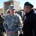 Lt. Gen. Caldwell speaks with Sgt. Maj. of the Afghan National Army (ANA) Roshan Safi during a visit