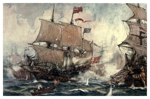 009-La batalla de la bahia de Sole en 1672-The Royal Navy (1907)- Norman L. Wilkinson