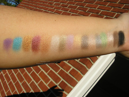 Urban Decay Alice In Wonderland Palette Swatches