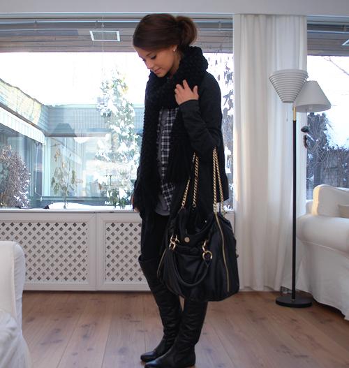 86acfd2ab4a02d wanted:schwarze zara tasche mit goldenen ketten - Fashion ...