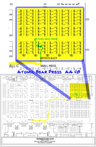 Brian Kolm/Atomic Bear Press at Wondercon April 2-4, 2010
