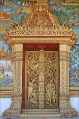 Le décor du portique du Vat That (Luang Prabang)