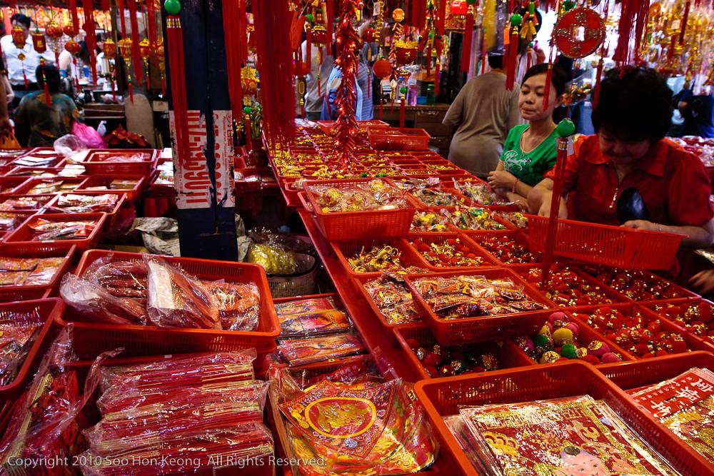 Chinese New Year Shopping @ Pudu Market, KL, Malaysia