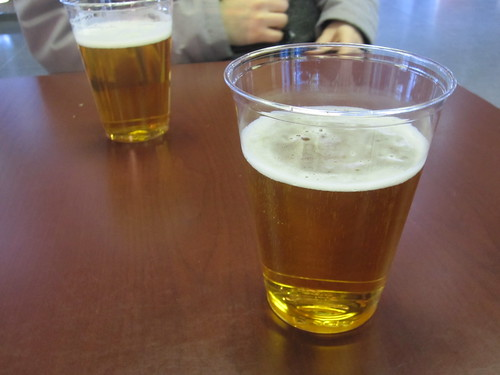 Beer at the train station - paid with per diem