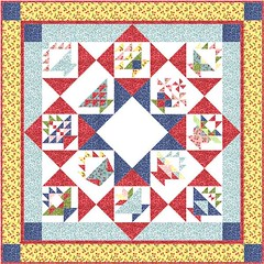 Setting Option 7 (Piecemeal Quilts) Tags: bom basketquiltalong quiltsettings