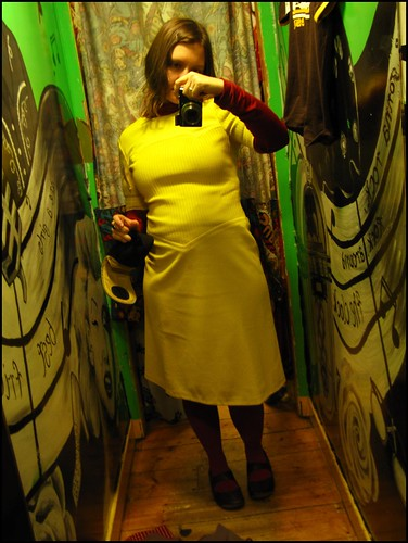 yellow sixties dress