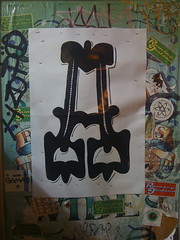 (theres no way home) Tags: wickerpark chicago poster graffiti goma were sharkula thig stapled theseones