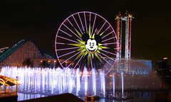 World of Color Fountain Testing, Disney's California Adventure, Disneyland Resort (Mastery of Maps) Tags: show california lighting ca travel tourism water night spectacular nightlights lagoon disney testing resort entertainment socal nightime mickeymouse ferriswheel destination fountains southerncalifornia orangecounty anaheim oc dca dlr themepark attraction californiaadventure paradisebay paradisepier disneylandresort dancingwaters disneyparks worldofcolor mickeysfunwheel