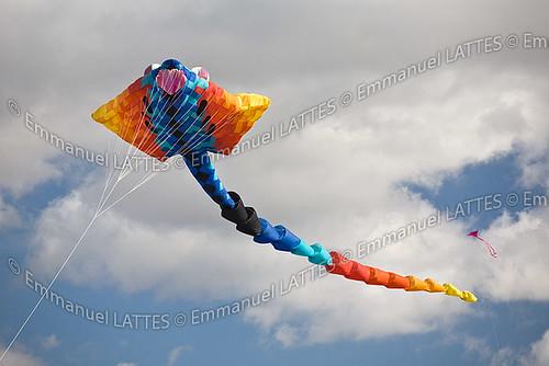 Cerf-volant lors du festival aérien Cervolix sur le plateau de Gergovie.