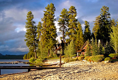 Payette Lake Living (Talo66) Tags: trees homes sunset summer clouds docks lakes idaho mccall longvalley payettelake