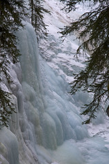 (Larssa) Tags: snow canada ice frozen waterfall alberta 2009 banffnationalpark johnstoncanyon