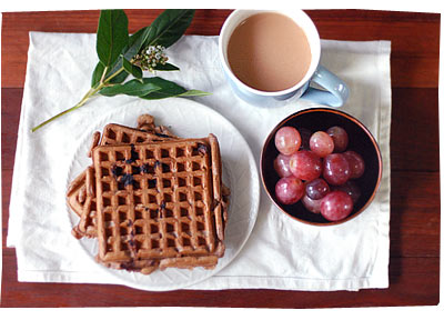 Chocolate Waffles for Breakfast