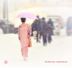 Japanese Lady.  (Hirosaki Japan).  Glenn Waters. Over 8,000 visits to this photo.  Thank you. (Glenn Waters in Japan.) Tags: winter snow japan lady japanese aomori  kimono hirosaki nikkor   japon  70200mm    f28g  d700 nikond700  glennwaters afsnikkor70200mmf28gedvrii