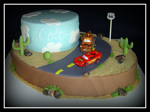 """Cars"" Birthday Cake"