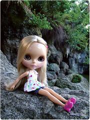 Bianca ficava posando de modelo curtindo a paisagem