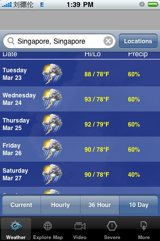 Being a weatherman in Singapore must be easy