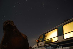 Chevy G20 at night (auzzki) Tags: travel camping expedition fun honeymoon exploring wanderlust adventure chevy justmarried campervan overland vanconversion g20van honeymoonadventure