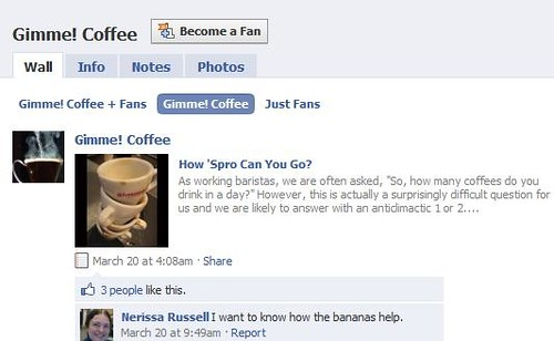 Coffee Retailer Facebook