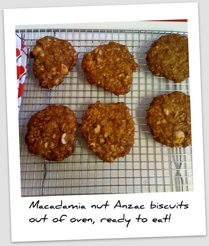 Finished macadamia Anzac biscuits