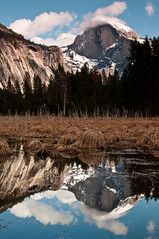 reflections of half dome in cooks meadow (RadiHoliday) Tags: nationalpark nikon 2470mmf28 cooksmeadow photographyworkshop yosemitewinter nikond300 brianrueb stephenoachs