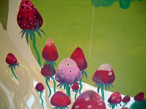 Music room strawberries