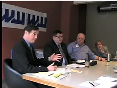 Saltzman, Cornett, Garren, Volm at Willamette Week's endorsement interview
