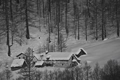 Cabins in the snow (storvandre) Tags: winter snow mountains alps montagne landscape inverno alpi alpe veglia ossola blackwhitephotos nembro storvandre