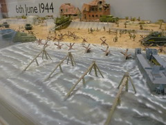 WW2 Beach Landing diorama (simononly) Tags: uk england museum army spring model war tank military iraq nazi german soviet dorset ww2 vehicle british ww1 diorama sherman coldwar 2010 bovington allied