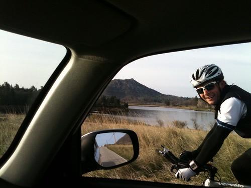Denner riding Mt. Laguna Classic