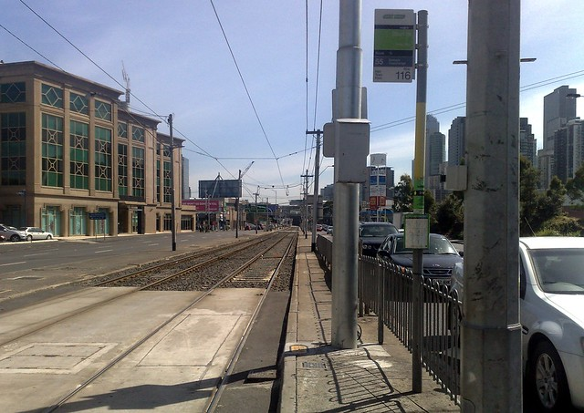 POTD: No shelter, no accessibility, no space at tram stops