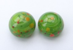 Poppy Cabs (Glittering Prize - Trudi) Tags: uk green glass beads handmade poppies trudi lampwork sra cabachon glitteringprize fhfteam britlamp