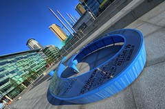 Dock number 9 (Digit@l Exposure) Tags: city manchester dock media nine 9 number salford quays