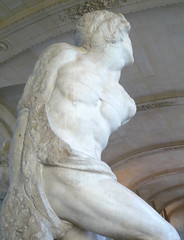 Michelangelo, Rebellious Slave right flank close