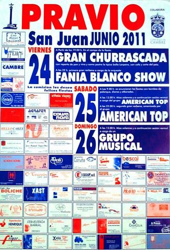 Cambre 2011 - Festas de San Xoán en Pravio - cartel