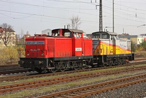 Die-Lei 345 159 8 und 345 165-5 Aschaffenburg