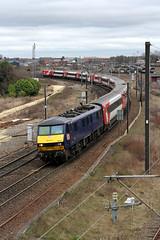 90034 1N16 York 19.02.2017 (Dan-Piercy) Tags: dbcargo class90 90034 severuscurve york 1n16 london kingscross newcastle eastcoast service ecml